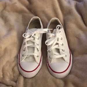 Converse All Star Youth white sneakers size 2